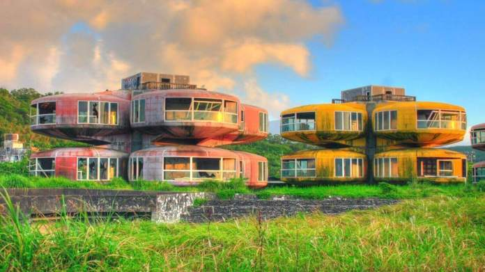 Sanzhi UFO Houses, one of the abandoned buildings in the world