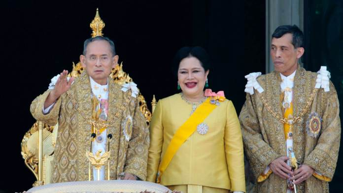 The members of Thailand's Royal family in 2007
