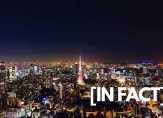 tokyo tower and the city at night, japan