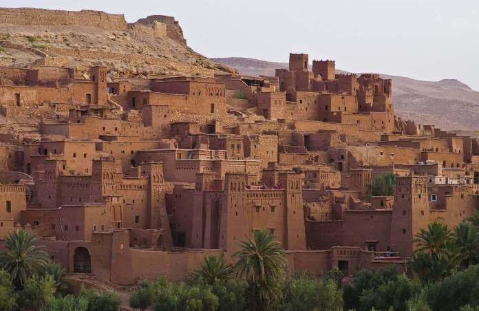clay fortification Ait Benhaddou - one of the special castles around the world