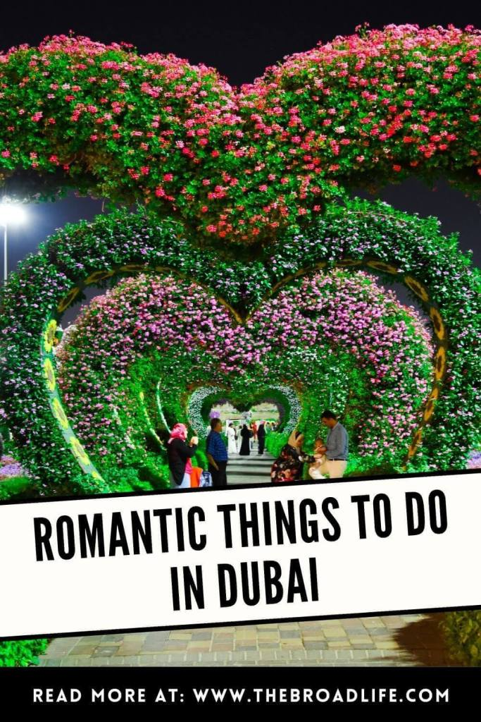 romantic things to do in dubai - the broad life's pinterest board