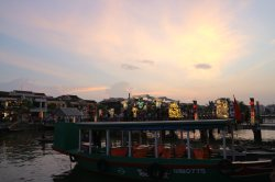 Hoi An's river in the afternoon