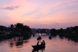 Hoi An river at the sundown