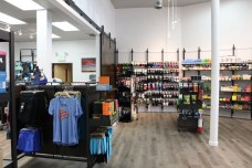 Inside of Footzone. Downtown Bend, Oregon. Check out their website and support local stores and other businesses. April 23. Photo by Kayla Scott