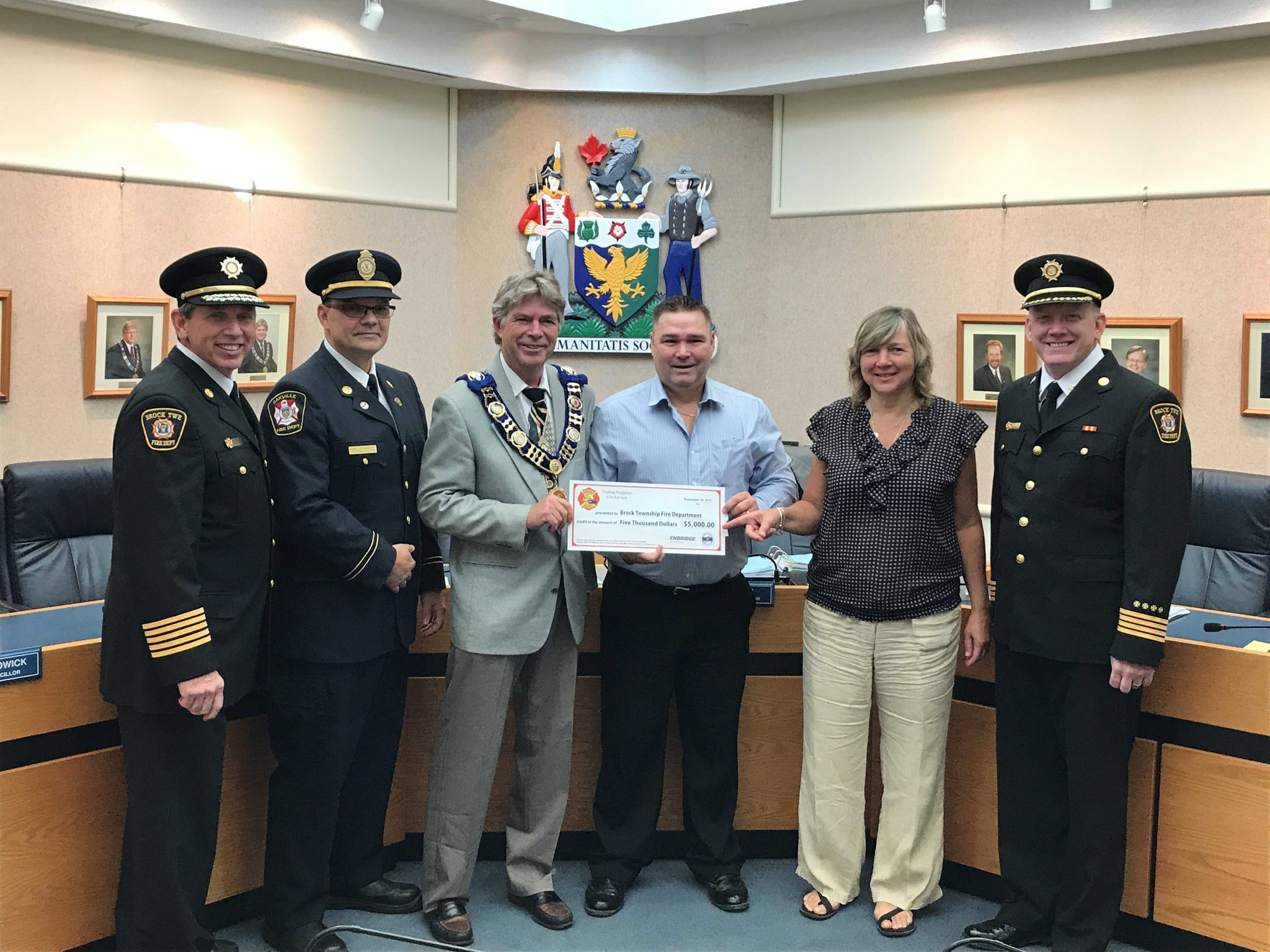 Brock Township Fire Department receives $5,000 boost from Enbridge