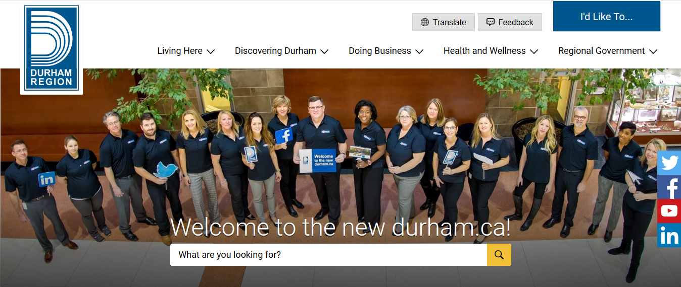 Durham Region launches new website