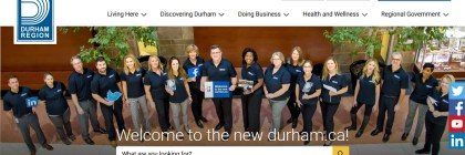 Durham Region website screenshot