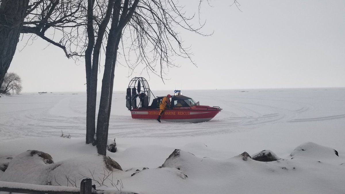 Georgina firefighters rescue injured snowmobiler on Lake Simcoe