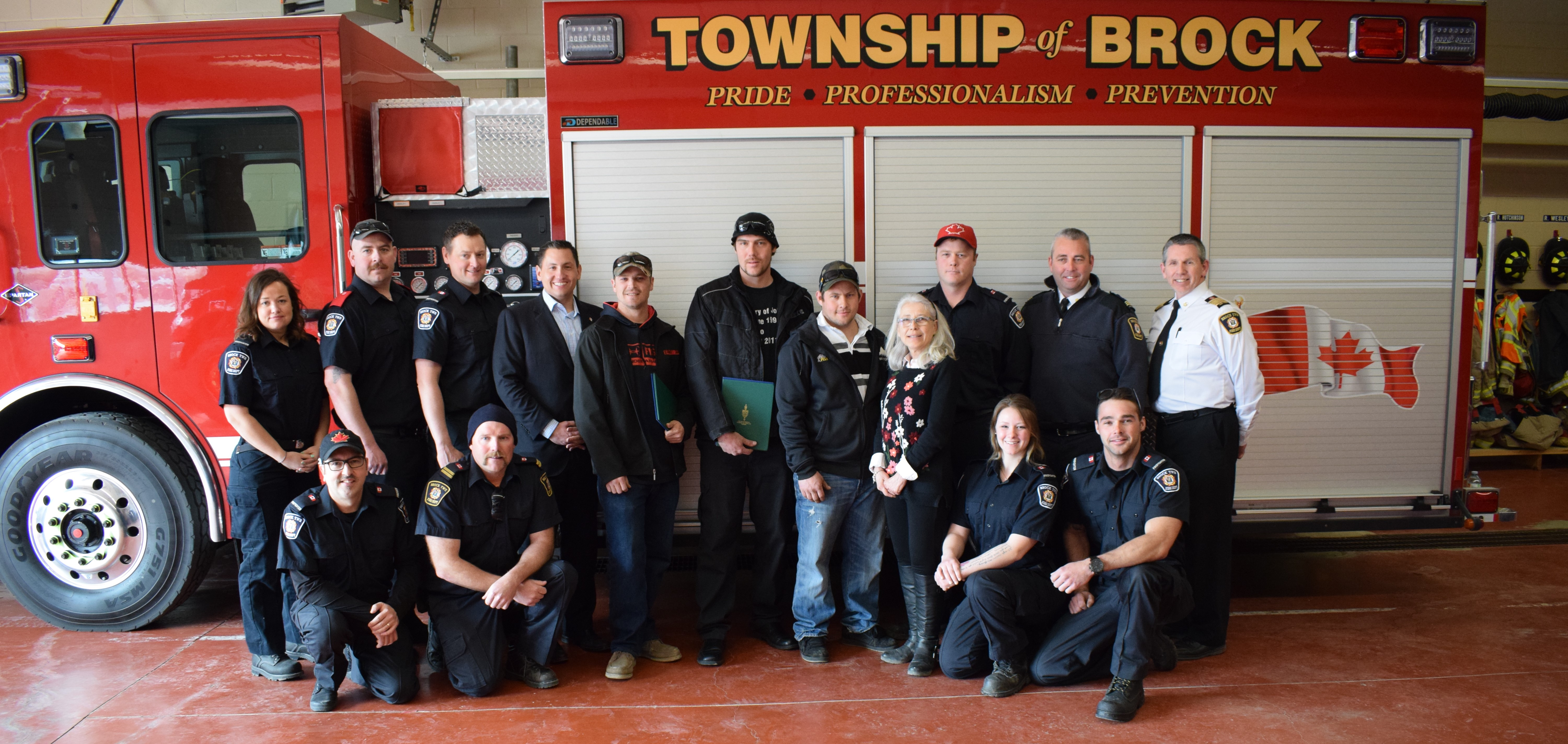 Four employees from Mitchell's Fish Huts recognized for Lake Simcoe rescue