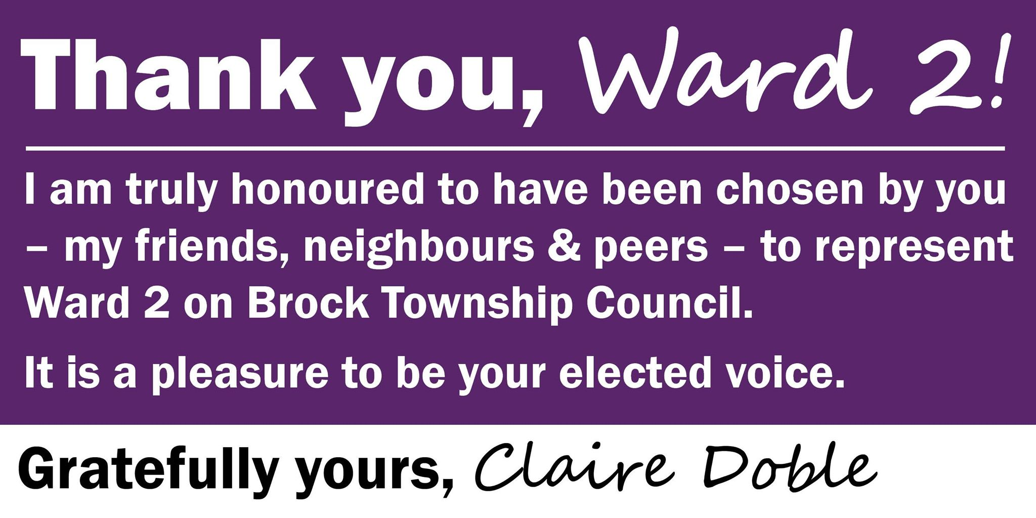 Claire Doble - Thank You Ad