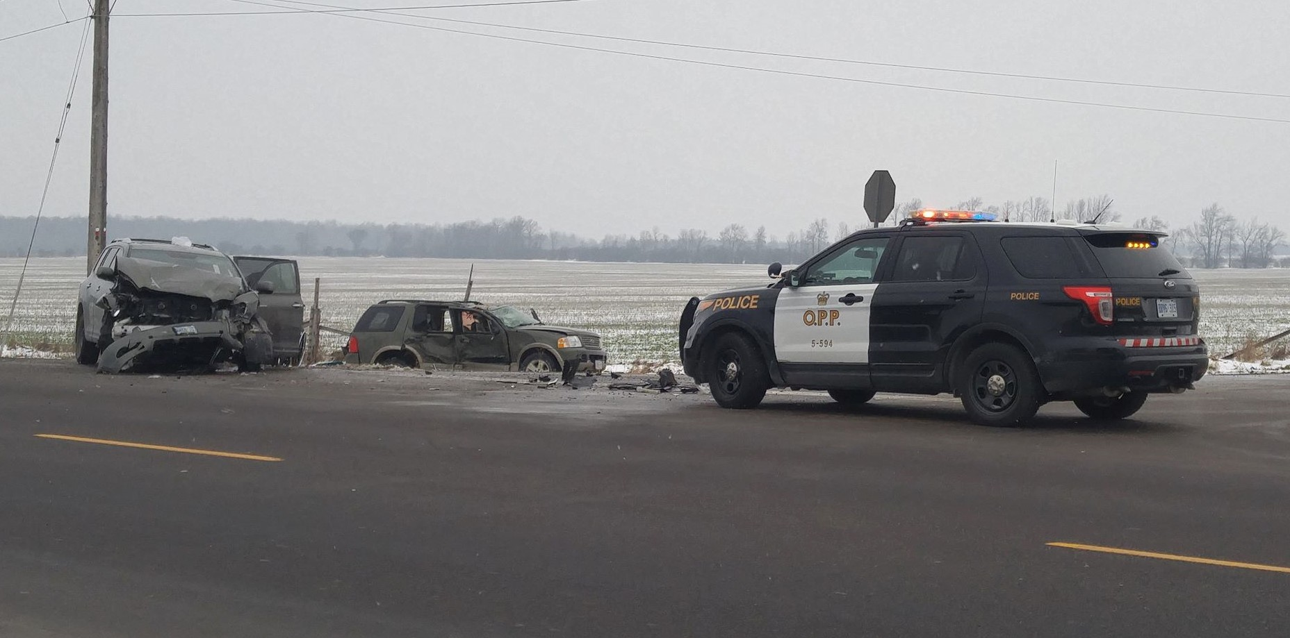 Three people taken to hospital following accident on Highway 12