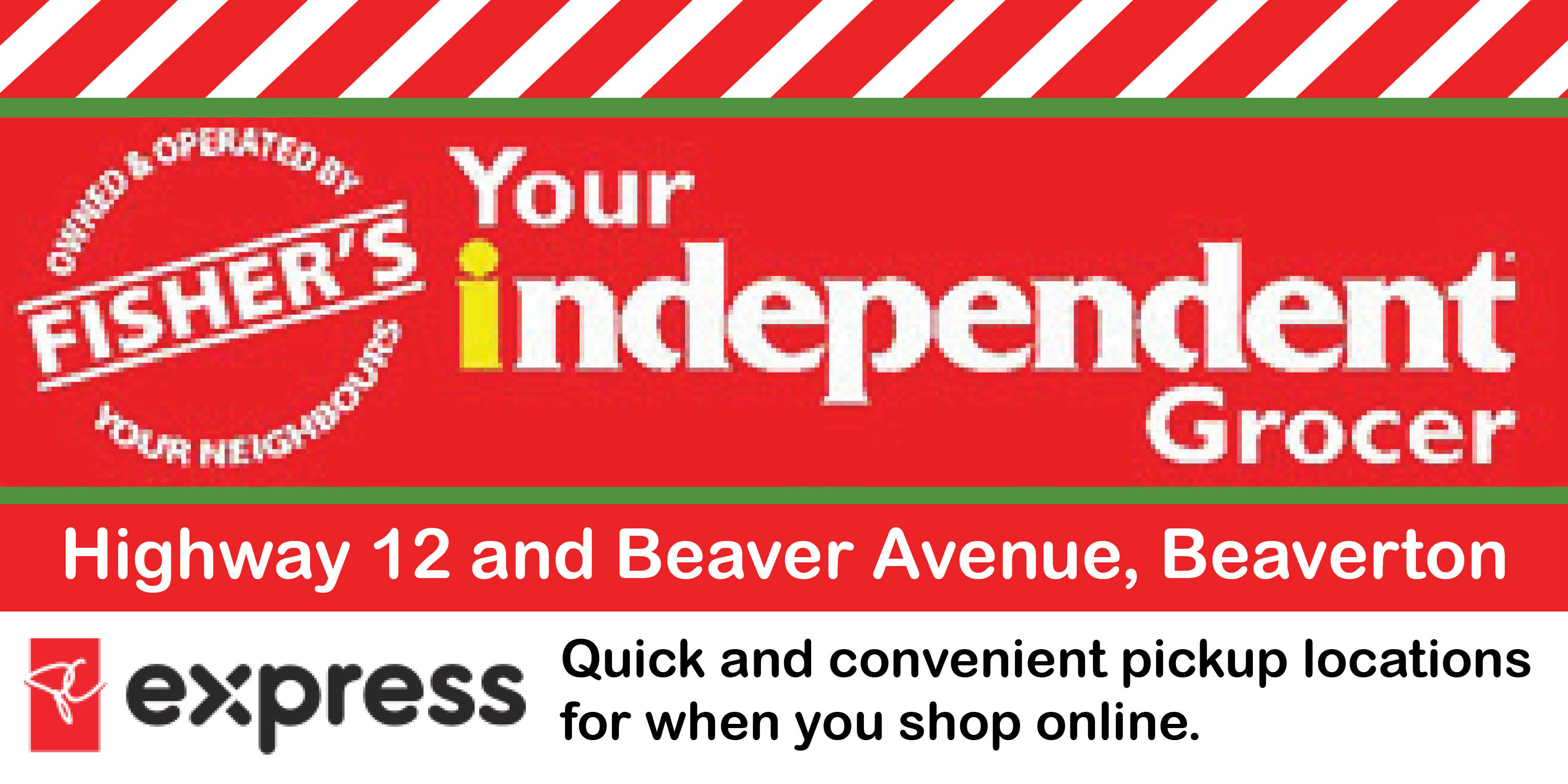 Fisher's Your Independent Grocer ad