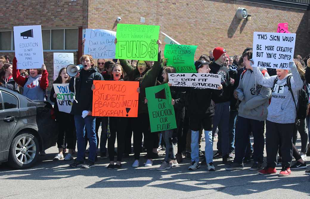 Student leaders at Brock High School explain talking points behind protest