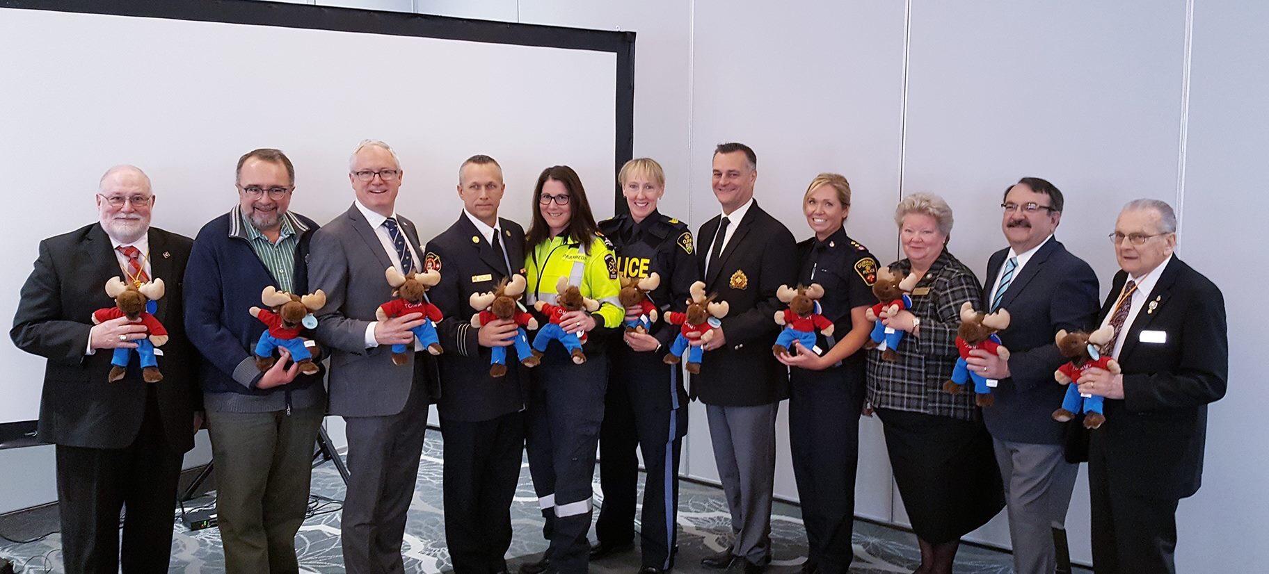 Dozens of plush toys donated to Durham Region first responders