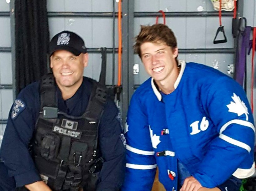Mitch Marner comes up with an assist for DRPS K9 unit