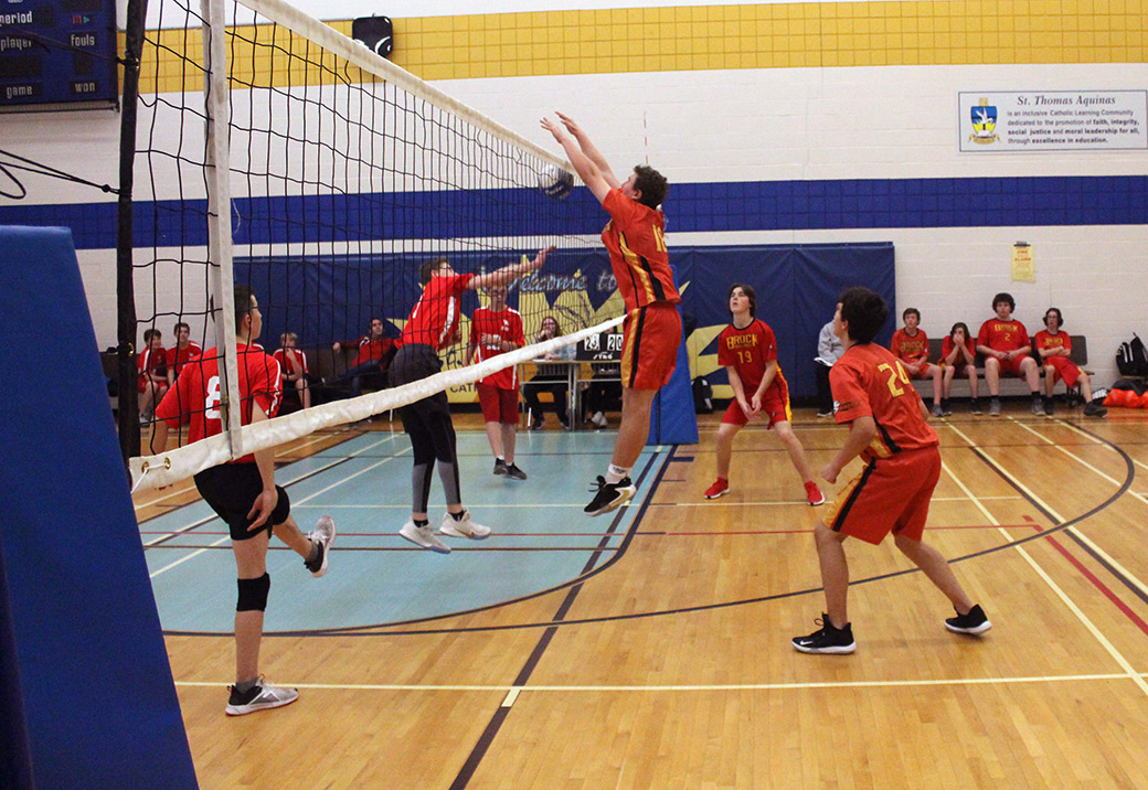 Brock High's junior boys volleyball team hits court for playoffs