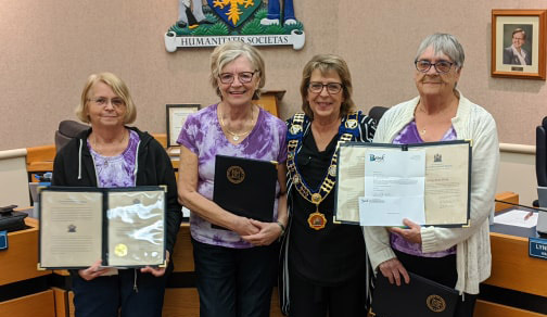 Seniors group recognized by township council for fundraising efforts