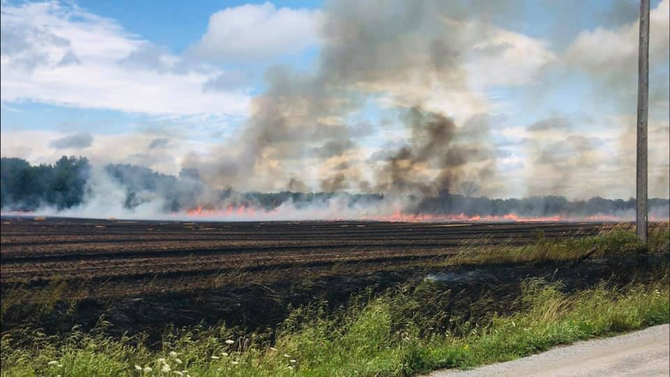 Township crews make quick work of grass fire near Cannington