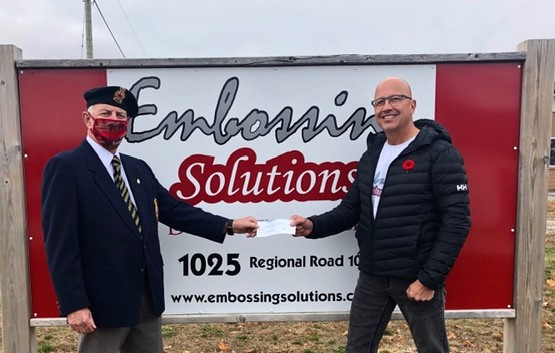 Business raises $1,000 for Sunderland Legion