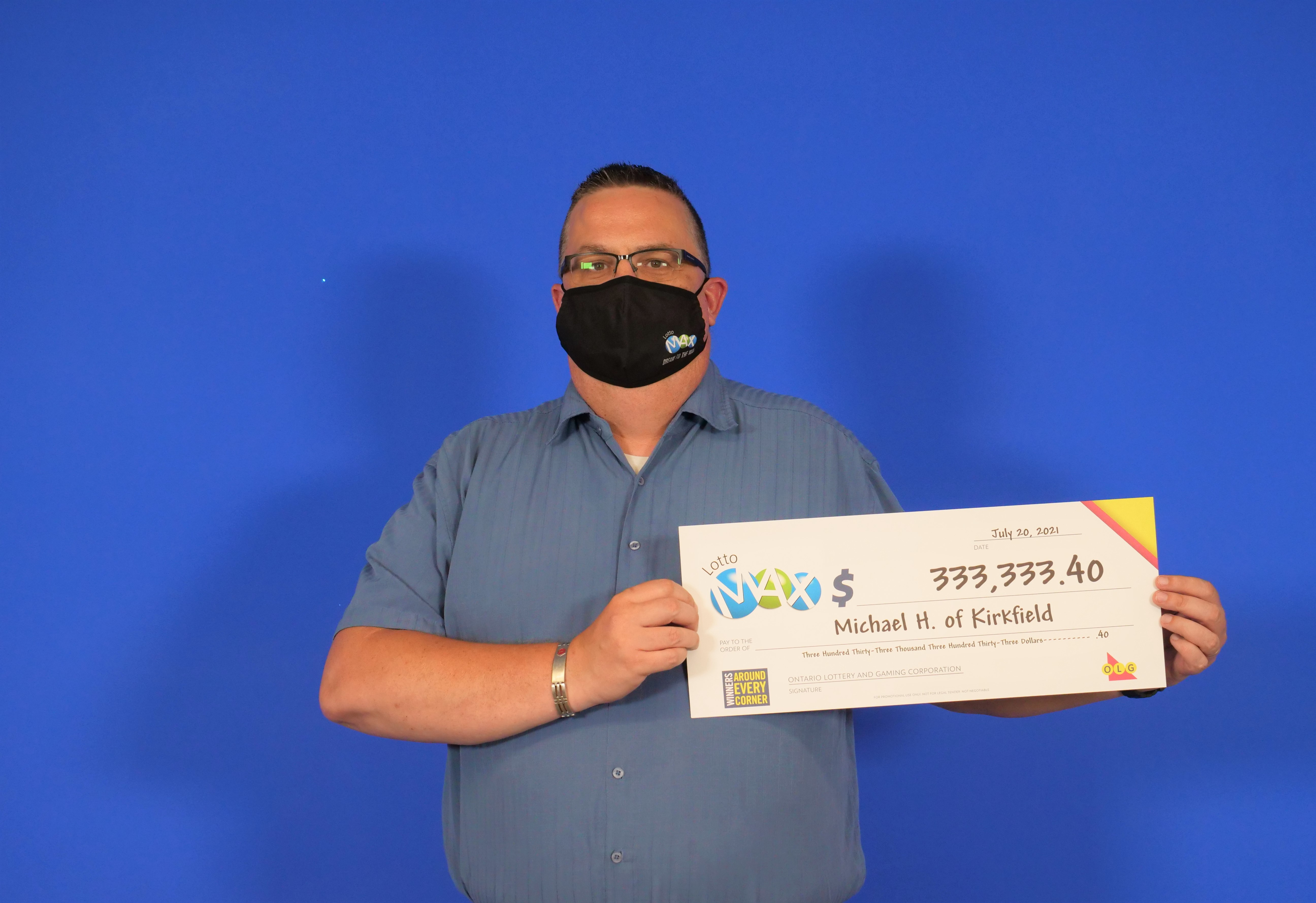 Kirkfield man wins more than $333,333 in lottery