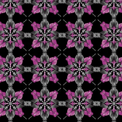 MAJESTIC MEDALLIONS BLK- Violet7820-62