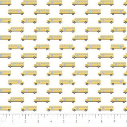 Camelot Fabrics - Teachers Rule - Yellow School Bus