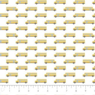 Camelot Fabrics - Teachers Rule - Yellow School Bus