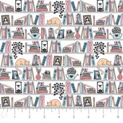 Camelot Fabrics - Literary - Shelfie - Multi