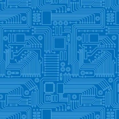 Stem Squad by Edward Miller - Circuit Board - dc9722_blue