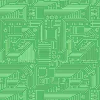Stem Squad by Edward Miller - Circuit Board - dc9722_green