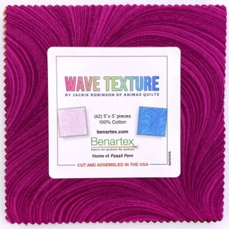 Jackie Robinson Pearlescent Wave Texture 5X5 Pack 42 5-inch Squares Charm Pack Benartex
