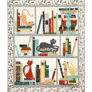 Purrfect by Terri Degenkolb - Purrfect Day Bookcase Quilt Kit 52367QK