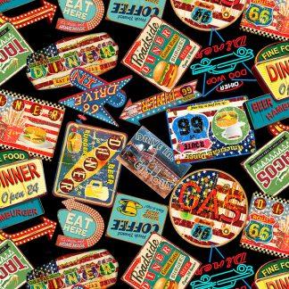 Life's a Kick - 1657-99 Black- Diner Signs