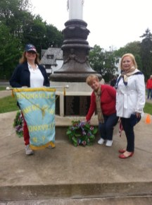 Kathy DeRusso, President represents the BWC and lays a wreath on Memorial Day