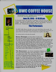 June 2016 Coffeehouse