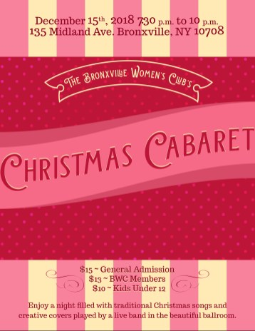 Christmas Cabaret 2018