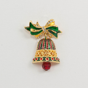 Christmas Bell.Jolly Christmas Bell Pin By C Radko The Brooch And Bangle