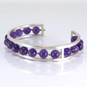 sterling amethyst cuff bracelet