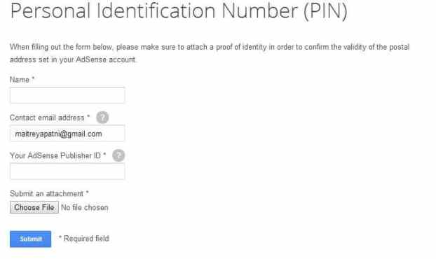 Address Verification in Google Adsense without PIN