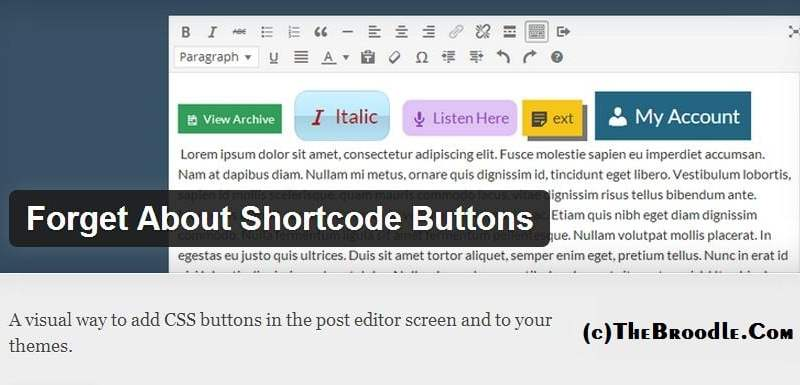 Forgot About Shortcode Buttons Plugin Page