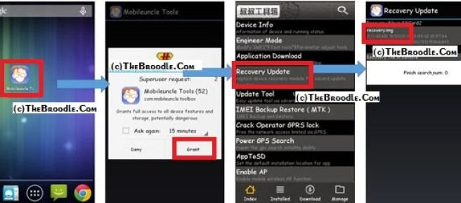 Installing Recovery With Mobile Uncle Tools in Micromax A116 Canvas HD
