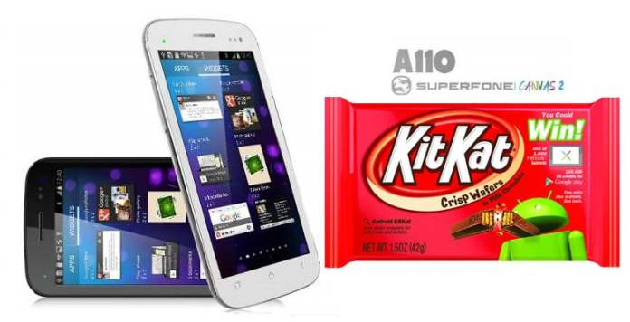 Kitkat Rom for Micromax Canvas 2 A110