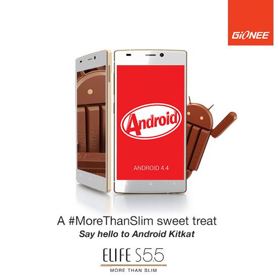 Android 4.4.2 Kitkat Update in Gionee Elife S5.5