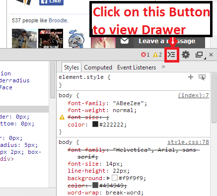 Developer Tools Windows in Google Chrome