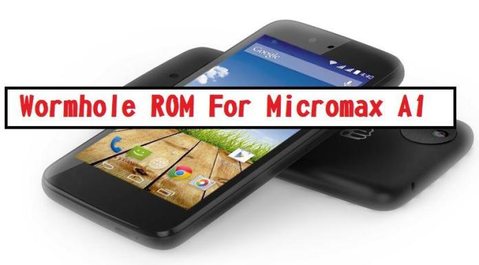 Wormhole ROM for Micromax Canvas A1