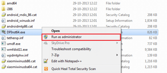 Installing Xiaomi Redmi 1S USB Drivers in Windows