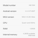 MIUI 6 Android 4.4 KK For Xiaomi Redmi 1S Armani