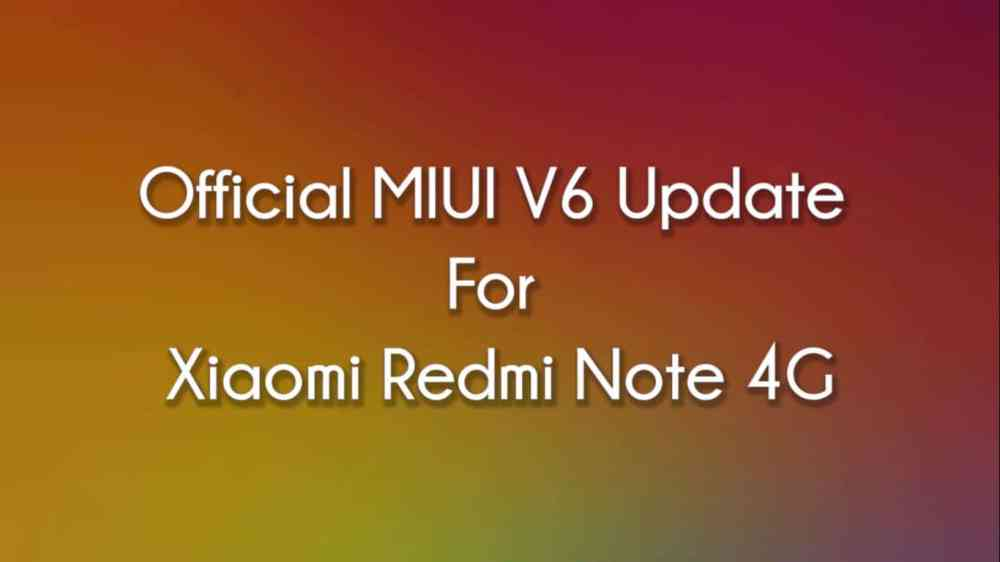 Official MIUI 6 For Xiaomi Redmi Note 4G