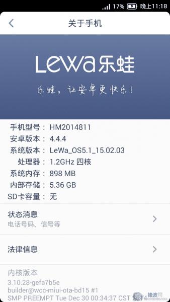 Lewa OS5 For Xiaomi Redmi 2 (Android 4.4.4 Kitkat ROM)