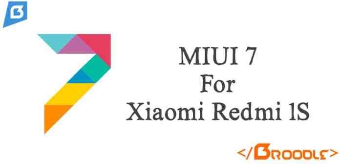 MIUI 7 For Xiaomi Redmi 1S